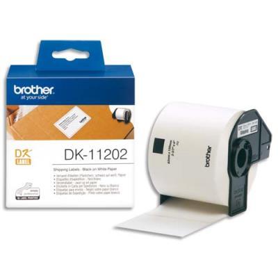 Rouleau de 300 étiquettes d'expédition autocollantes DK11202 pour imprimante d'étiquettes Brother - 62 x 100 mm (photo)