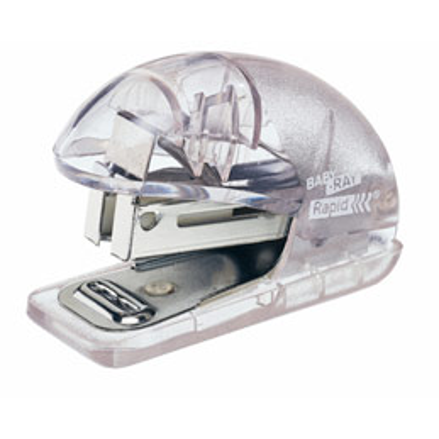 Agrafeuse Rapid Mini Baby Ray - translucide -  utilise les agrafes 24/6 ou 26/6 10 feuilles