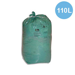 Sacs poubelles - 110 L - vert - 30 microns - lot de 200 sacs (photo)