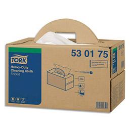 Chiffons blancs non tissés Tork Premium - 120 formats - 64 x 38 cm - pour surface délicate (photo)