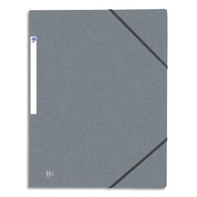 Chemise 3 rabats et élastique Elba Top File - carte lustrée 5/10e - 24 x 32 cm - gris