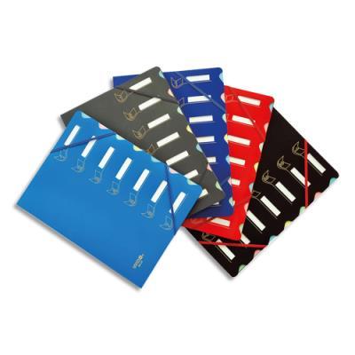 Trieur Extendos 437 - 7 compartiments - couverture en polypropylène interieur carte - coloris assortis