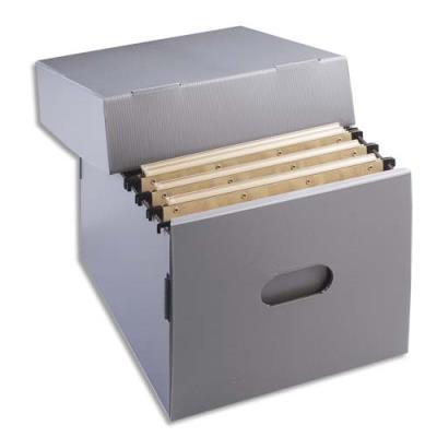 Conteneur pour dossiers suspendus Extendos en polypropylène alvéolaire 100% recyclable - ouverture sur le dessus - 34 x 17,5 x 31cm