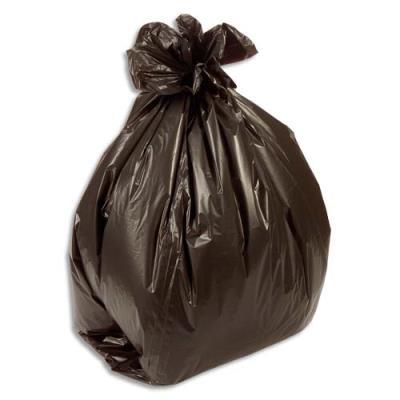 Sacs poubelles fins - 50 L - noir - 15 microns - lot de 500 sacs (photo)