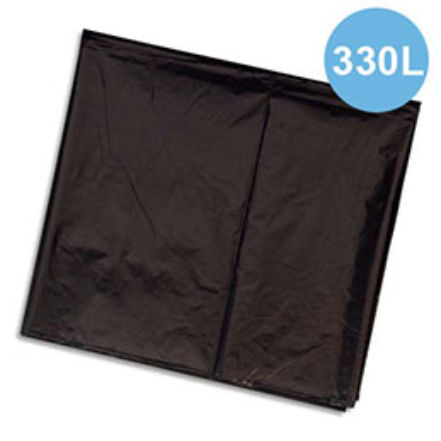 Sacs poubelles - 330 L - noir - pour container - carton de 100 - 30 microns (photo)
