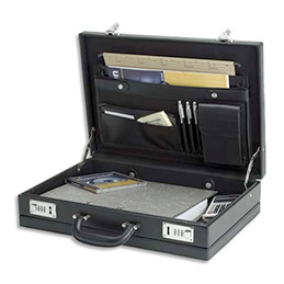 Attaché case en PVC Master - noir (photo)