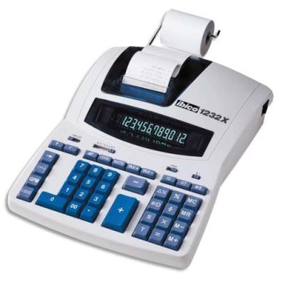 Calculatrice de bureau professionnelle avec imprimante Ibico Calcul 1232x - 12 chiffres
