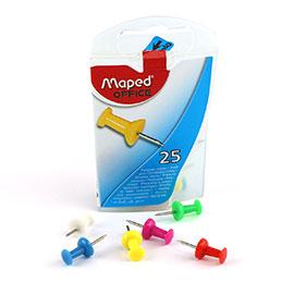 Punaises mémo - diamètre 10mm - coloris assortis - boite de 25