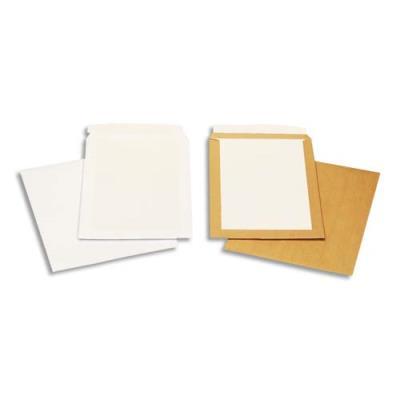 Pochettes dos carton en kraft brun gpv foramt c4 229 x 324 mm 120g auto adhesives boite de 100