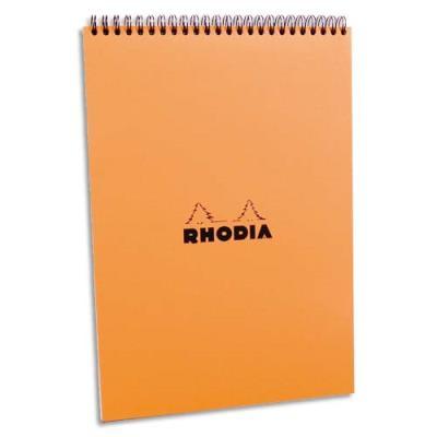 Bloc Rhodia nº18 reliure intégrale - Couverture noire - 21 x 29.7cm - 5x5 -réf : 18500 (photo)