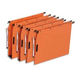 Dossiers suspendus en kraft orange L'Oblique AZL - pour armoire - fond 50 mm - attache velcro - paquet de 25