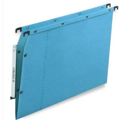 Dossiers suspendus AZV en carte Canson bleu - pour armoire - fond V - paquet de 25 (photo)