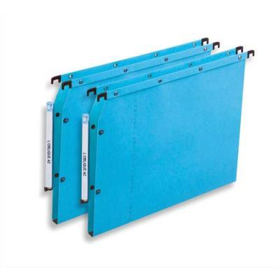 Dossiers suspendus AZV en carte Canson bleu - pour armoire - fond 15 mm - paquet de 25 (photo)