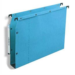 Dossiers suspendus AZV en carte Canson bleu - pour armoire - fond 50 mm - paquet de 25 (photo)
