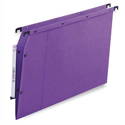 Dossiers suspendus AZV en carte Canson lilas - pour armoire - fond V - paquet de 25 (photo)