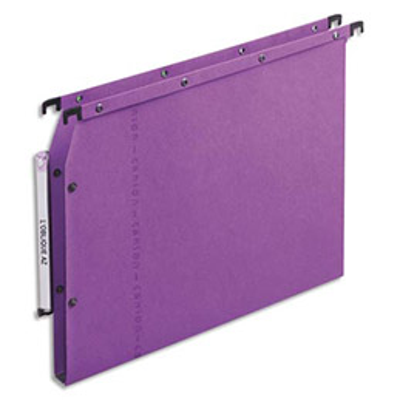 Dossiers suspendus AZV en carte Canson lilas - pour armoire - fond 15 mm - paquet de 25 (photo)