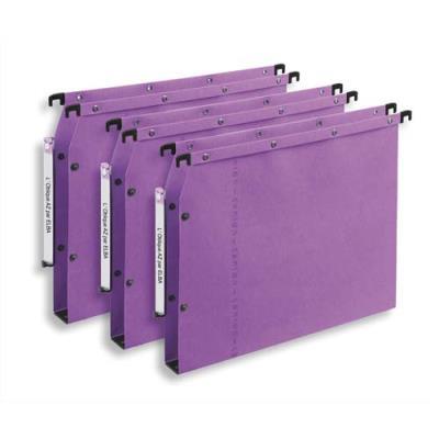 Dossiers suspendus AZV en carte Canson lilas - pour armoire - fond 30 mm - paquet de 25 (photo)