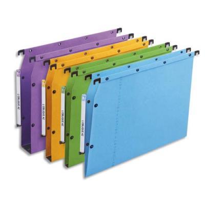 Dossiers suspendus AZV en carte Canson coloris assortis - pour armoire - fond 30 mm - paquet de 25 (photo)