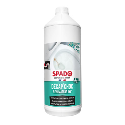 Révonateur WC Spado Décap'Choc 3 en 1 - flacon 1 litre