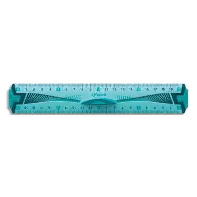 Règle plate Maped - plastique incassable - longueur 20 cm (photo)