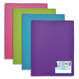 Protège document Elba Memphis - en polypropylene memphis - assortis mode - 20 pochettes/40 vues (photo)