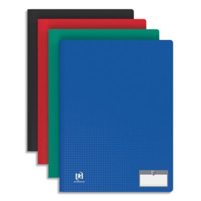 Protège document Elba - en polypropylene memphis - assortis classique - 40 pochettes/80 vues (photo)