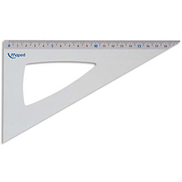 Équerre à 60 degrés Maped - aluminium Maped - longueur 21 cm (photo)