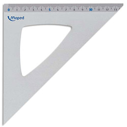 Equerre à 45 degrés Maped - aluminium anodisé - longueur 21 cm (photo)