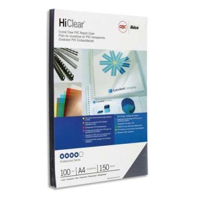 Couvertures transparentes GBC - 150µ - incolore - boîte de 100