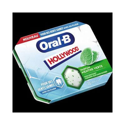 Chewing-gum sans sucres Oral-B - parfum menthe verte - étui de 10 dragées