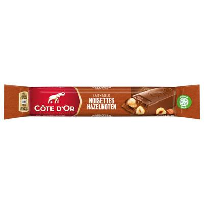 Barre de chocolat au lait avec noisettes entières Côte d'or - 45 g