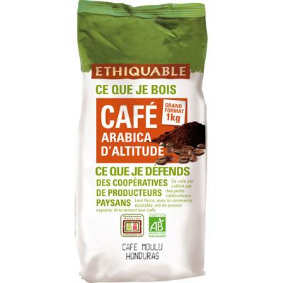 Café moulu Honduras arabica bio Ethiquable - sachet de 1 kg