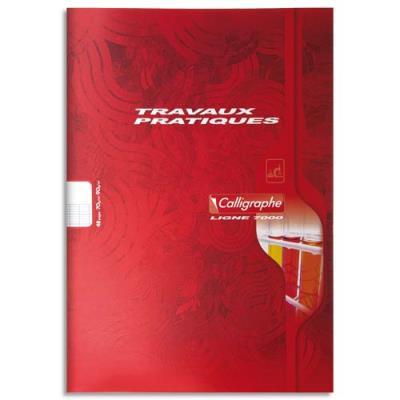 Cahier travaux pratiques piqûre 70g 48 pages grands carreaux+unie format A4-  CALLIGRAPHE 7000