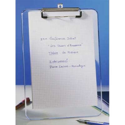 Porte bloc Alba - plastique transparent (photo)