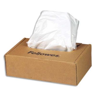 Sacs Fellowes pour destructeurs dedocuments de 23 à 28 litres - paquet de 100 sacs (photo)