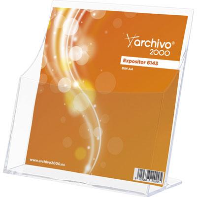 Présentoir de table vertical - format A4 - transparent  - 1 case