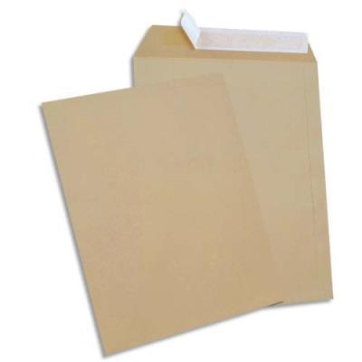Boîte de 250 pochettes GPV - kraft - auto-adhésives - 90g - format 24 260x330mm (photo)