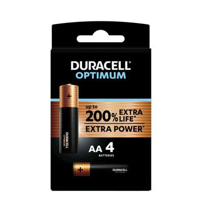 Pile alcaline AA / LR6 Duracell Optimum - lot de 5