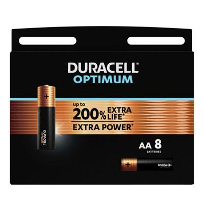 Pile alcaline AA / LR6 Duracell Optimum - lot de 9