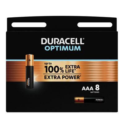 Pile alcaline AAA / LR3 Duracell Optimum - lot de 9