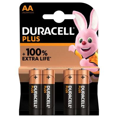 Pile alcaline AA / LR6 Duracell Plus - lot de 5