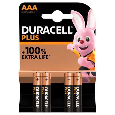 Pile alcaline AAA / LR3 Duracell Plus - lot de 5