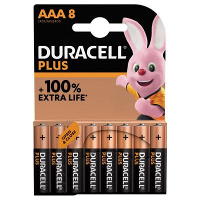 Pile alcaline AAA / LR3 Duracell Plus - lot de 9
