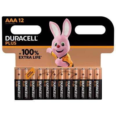 Pile alcaline AAA / LR3 Duracell Plus - lot de 13