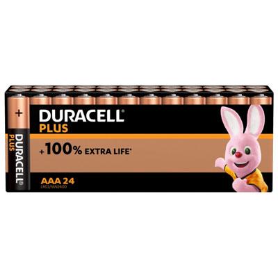 Pile alcaline AAA / LR3 Duracell Plus - lot de 25