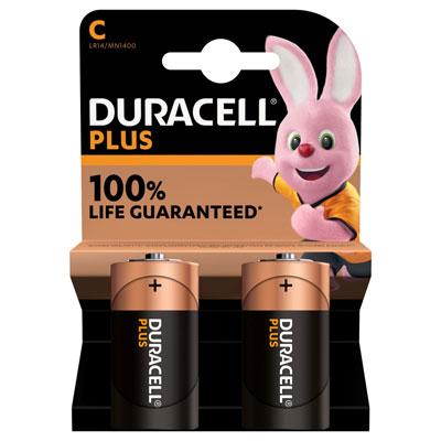 Pile alcaline C / LR14 Duracell - lot de 3