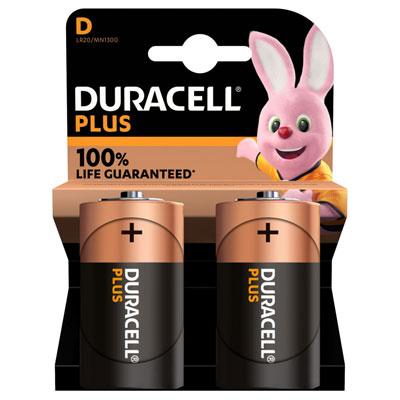 Pile alcaline D / LR20 Duracell - lot de 3