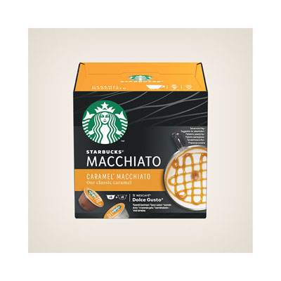 Café Caramel Macchiato Starbucks pour machine Dolce Gusto - paquet de 12 capsules