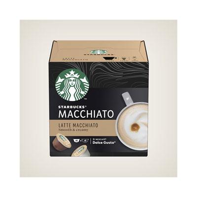 Café Latte Macchiato Starbucks pour machine Dolce Gusto - paquet de 12 capsules