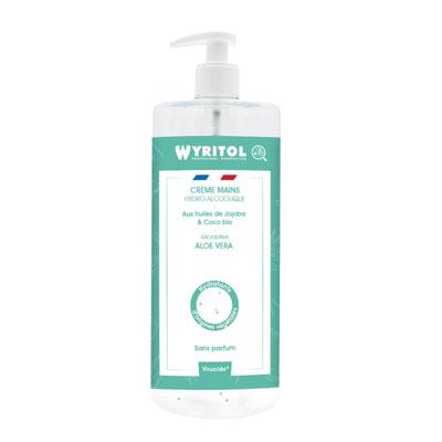Crème mains hydroalcoolique Wyritol - aloevera - flacon de 500 ml